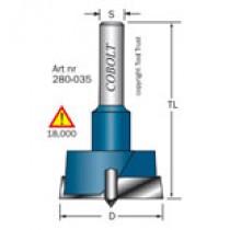 KVISTBORR/BESLAGSFRÄS COBOLT D=15mm, S=8mm