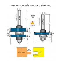 SPONTFRÄSSATS COBOLT L=22,7 mm, F=9,5